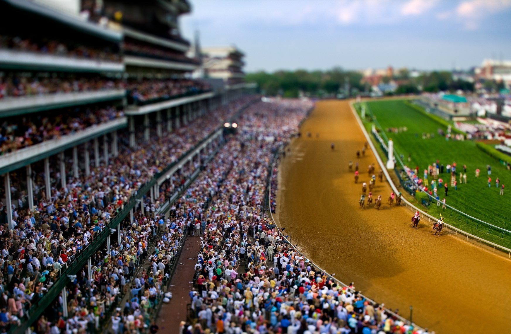 LaforetKentuckyDerbyTilt-Shift01